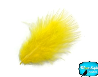Down Feathers, 1 Pack - YELLOW Turkey Marabou Short Down Fluff Loose Feathers 0.10 oz. : 3843