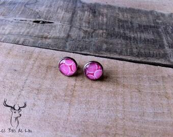 Earrings stainless steel grapefruit Stud Earrings, stainless steel, summer Collection