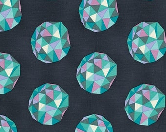 Birds and Bees Tula Pink Meteor Shower fabric /PWTP023.AQUAR, Fabric Canada/ half yard