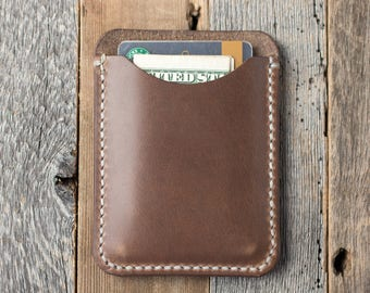 Leather Card Holder Leather Card Wallet Leather Card Sleeve Card Carrier Horween Leather Wallet Mens Wallet Womens Wallet Minimalist Wallet