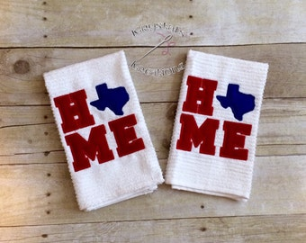Texas home hand towel
