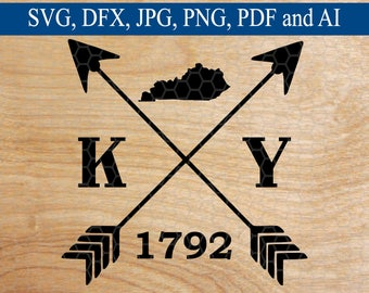 Kentucky SVG, SVG, svg File, Arrow svg, Arrow, SVG, Cross Arrow svg, svg Files, svg Design, svg File for Circuit, Silhouette Files, Cut File