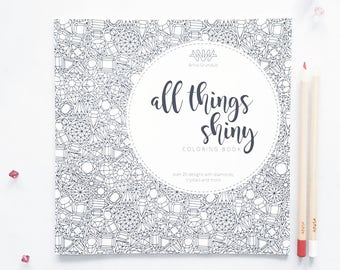 SALE Gemstones Coloring Book, Adult Coloring Book, Gems Coloring Book for Adults, Intricate Coloring Book, Small Coloring Book Animals