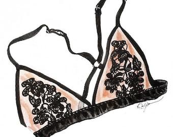 Pink Bralette Illustration
