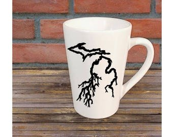 Michigan Roots Mug Coffee Cup Gift Home Decor Any Color Jenuine Crafts