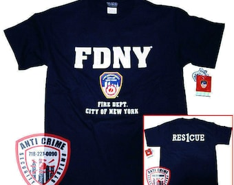 FDNY Shirt T-Shirt Officially Licensed Clothing Apparel by The New York City Fire Department