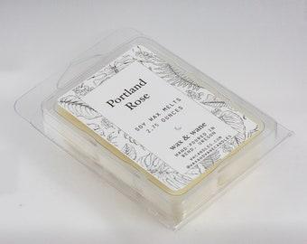 Portland Rose Scented Soy Wax Tart - Wax Melts -  Rose Scented Wax Cubes - Clamshell - Soy Candle Melts - Natural Soy Wax Tarts  Oregon Gift