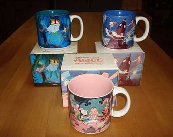 Three Different Collectible Ceramic Disney Mugs / Cups With original Boxes (SOLD SEPERATELY)