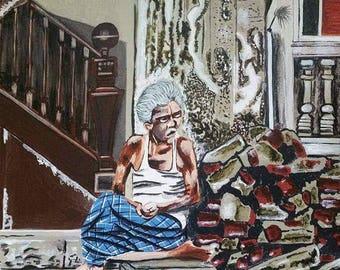 Of broken home and broken dreams: original acrylic painting on canvas