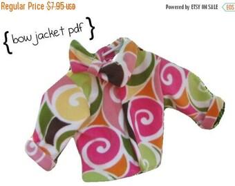 Bow Collar Jacket PDF Sewing Pattern Toddler Girls Spring Coat