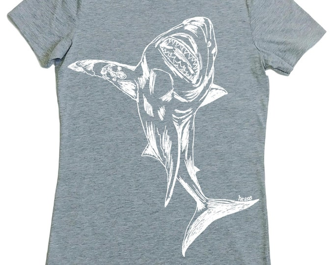 Great White Shark Tshirt - Woman TShirt - Fashion Tshirts for Women - Hipster Clothing - Gift for Women - Women Graphic Tee - Shark Week