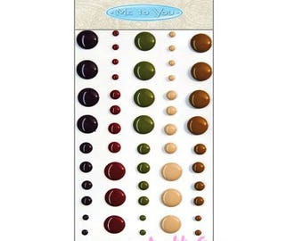 """60 jelly stickers """"Me to You"""" embellishments scrapbooking (ref.110) *."""