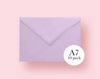 5x7 Lavender Envelopes | A7 Lavender Envelopes | Set of 10