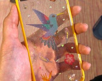 Blue Exotic Bird - iPhone 7/8 bumper case