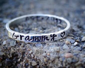 Mother's Day Grammy Ring - Personalized Grandma Ring - Custom Gift for Grandma - Gift from Grandkids - Grandma's Blessings