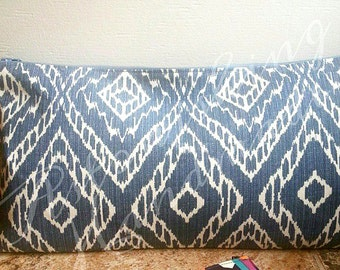 Medium Clutch - Denim Ikat
