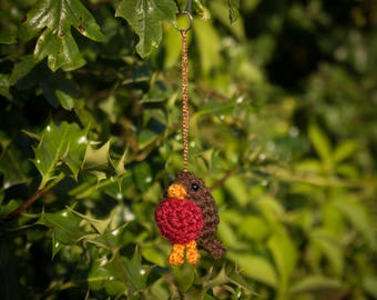 Rob the Crocheted Robin Keyring