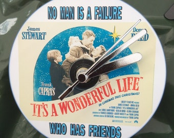 No Man Is A Failure, It's A Wonderful Life CD Clock (Can be Personalised)