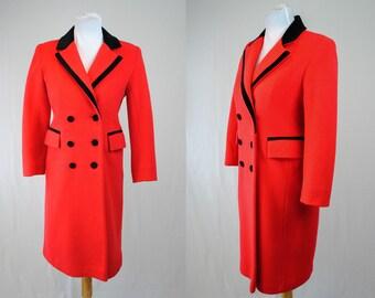 1970/80s Holiday Coat // Vintage Rothschild Coat // Vintage Red and Black Coat // Red Rothschild Coat // 70s Double Breasted Coat // Winter