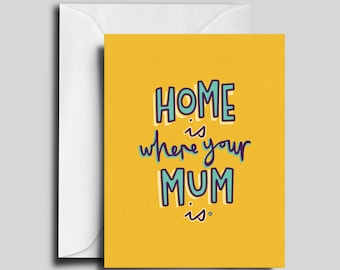 Home Is Where Your Mum Is / Mother's Day / Mother's Birthday Card