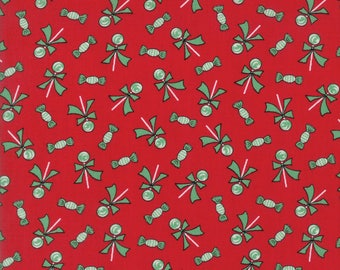 Sugar Plum Christmas Lollipops Candy Red fabric by Bunny Hill Designs for Moda Fabric #2913-11