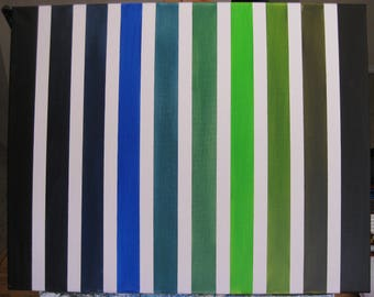 Original Oil Painting on Canvas (Blue & Green Shades)
