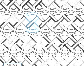 CELTIC KNOT - Longarm Quilting Digital Pattern for Edge to Edge and Pantograph Handiquilter Gammill Statler Stitcher Long Arm Machine