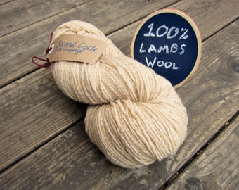 Lambswool Worsted Weight Yarn. Dye Base!  Recycled, Sweater Qualities- 1400+ yards total, 19+ ozs! Knit, crochet, weave, macrame & rugs