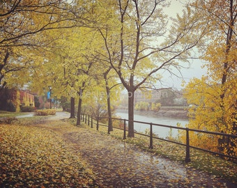 Rainy Fall Day - Lachine Canal - Montréal - Fine Art Print - Photograph - Wall Art - Decor
