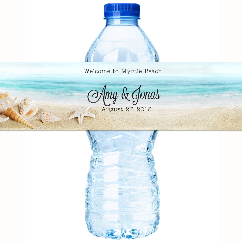 wedding water bottle