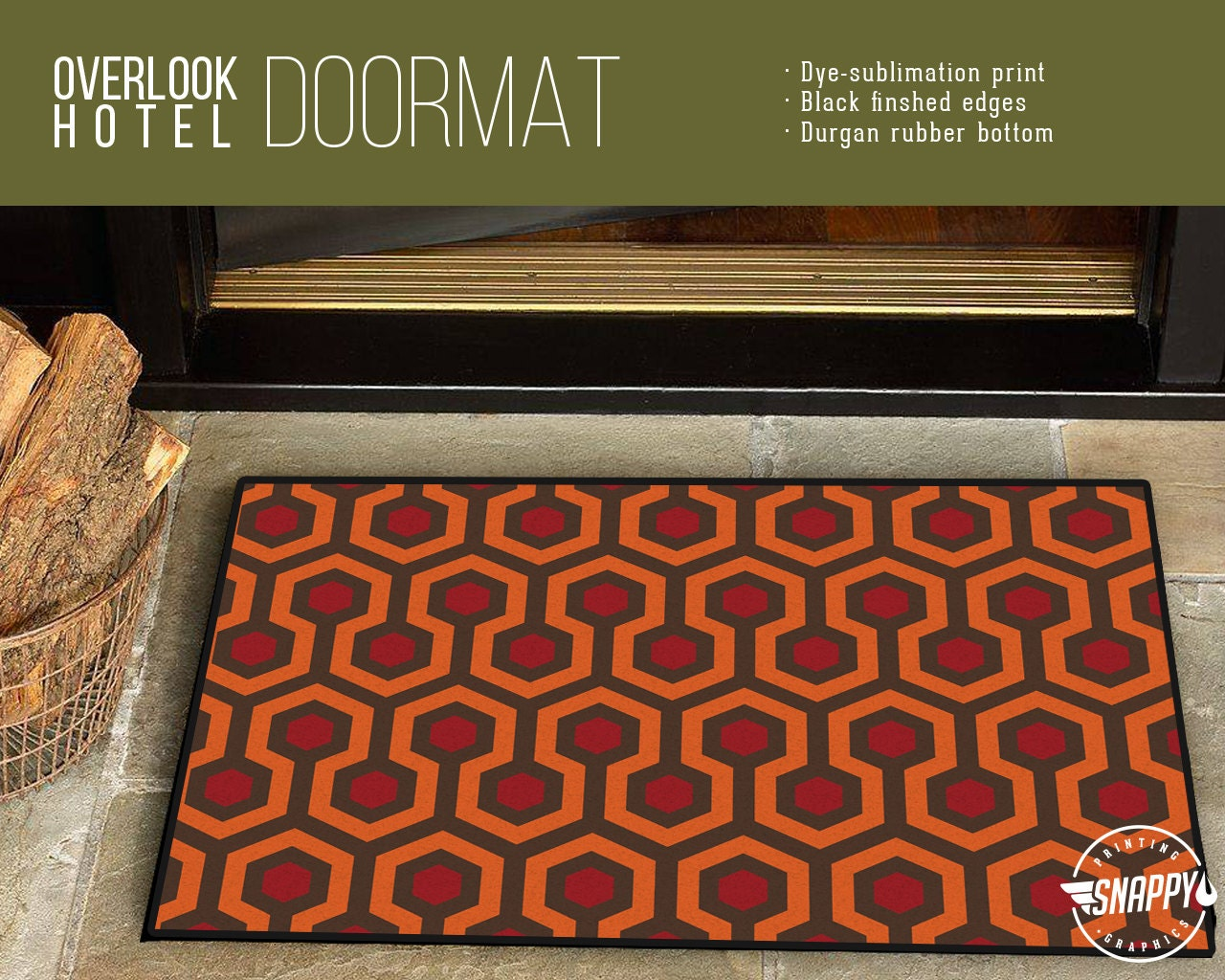 Overlook Hotel Carpet Pattern Welcome Mat/Doormat/Rug
