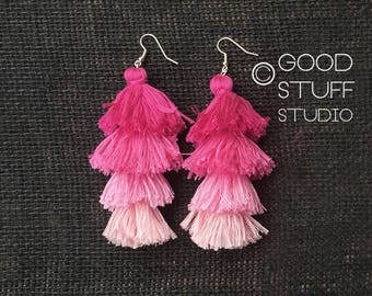 The Xandra Earrings - Guava Ombre