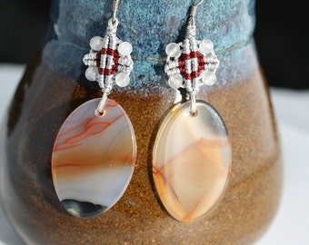 Agate Sterling Silver Earrings - Item 206