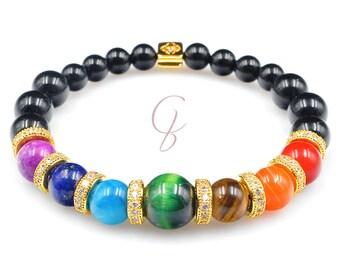 Bracelet 7 golden chakras