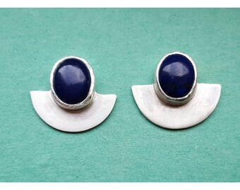 Handmade Sterling Silver & Lapis Lazuli Earrings