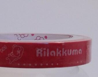 Deco Tape Rilakkuma Red 15m
