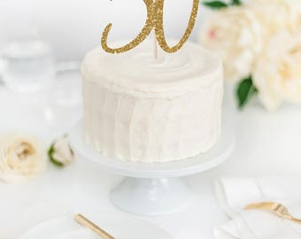 Hello 50 Cake Topper - 50th Birthday Cake Topper - Glitter Cake Topper - Custom Age Cake Topper - 50th Birthday Decor - Hello Fifty