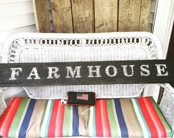 Farmhouse Reclaimed Barnwood Sign