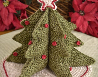 Crochet Pattern, Crochet Christmas Tree Pattern, Holiday Crochet Pattern, Christmas decoration, Table top decoration, INSTANT PDF DOWNLOAD