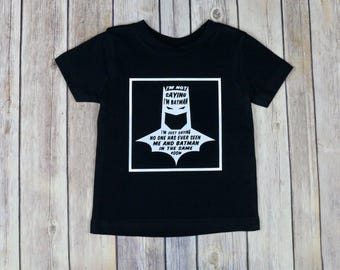 Batman Tee, Toddler Tee, Toddler Boy Tee, Men's Tee, Men's Shirt, Funny Shirt, Cute Shirt, Batman Party Tee