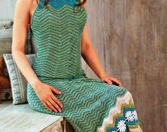Multicolor crochet long dress / custom