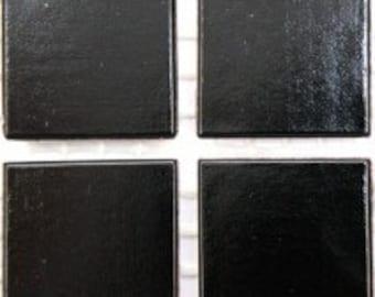 "20mm (3/4"") Black Vitreous Beveled Glass Mosaic Tiles//Mosaic Supplies//Mosaic Pieces//Crafts"