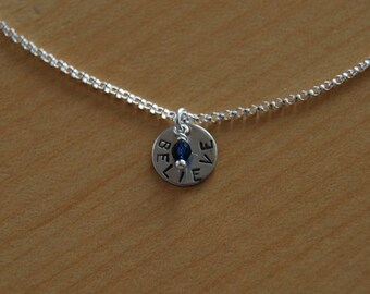 Believe Necklace with crystal