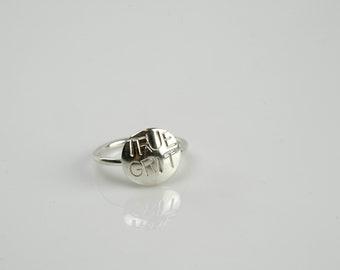 True Grit sterling silver ring