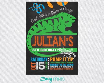 Reptile Invitation / Reptile Invitation / Snake Invitation / Lizard Invitation / Animal Birthday / Reptile Snake Lizard Birthday
