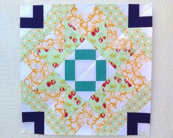 Paper Piecing - Taurus #240 - Zodiac Block of the Month - 3 sizes