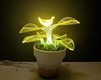 Neon Plant Lamp - Desk Lamp - LED Lights - Floor Lamp- Night light - Modern Lamp -
