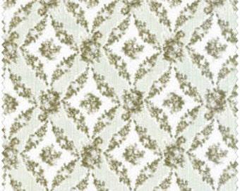 Amelia  Cotton Fabric Quilt Gate MR2170-16C Sage Floral Diamond