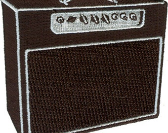 AMP, Officially Licensed Original Artwork, Premium Quality Iron-On / Sew-On, 3' x 2.9' Embroidered Patch