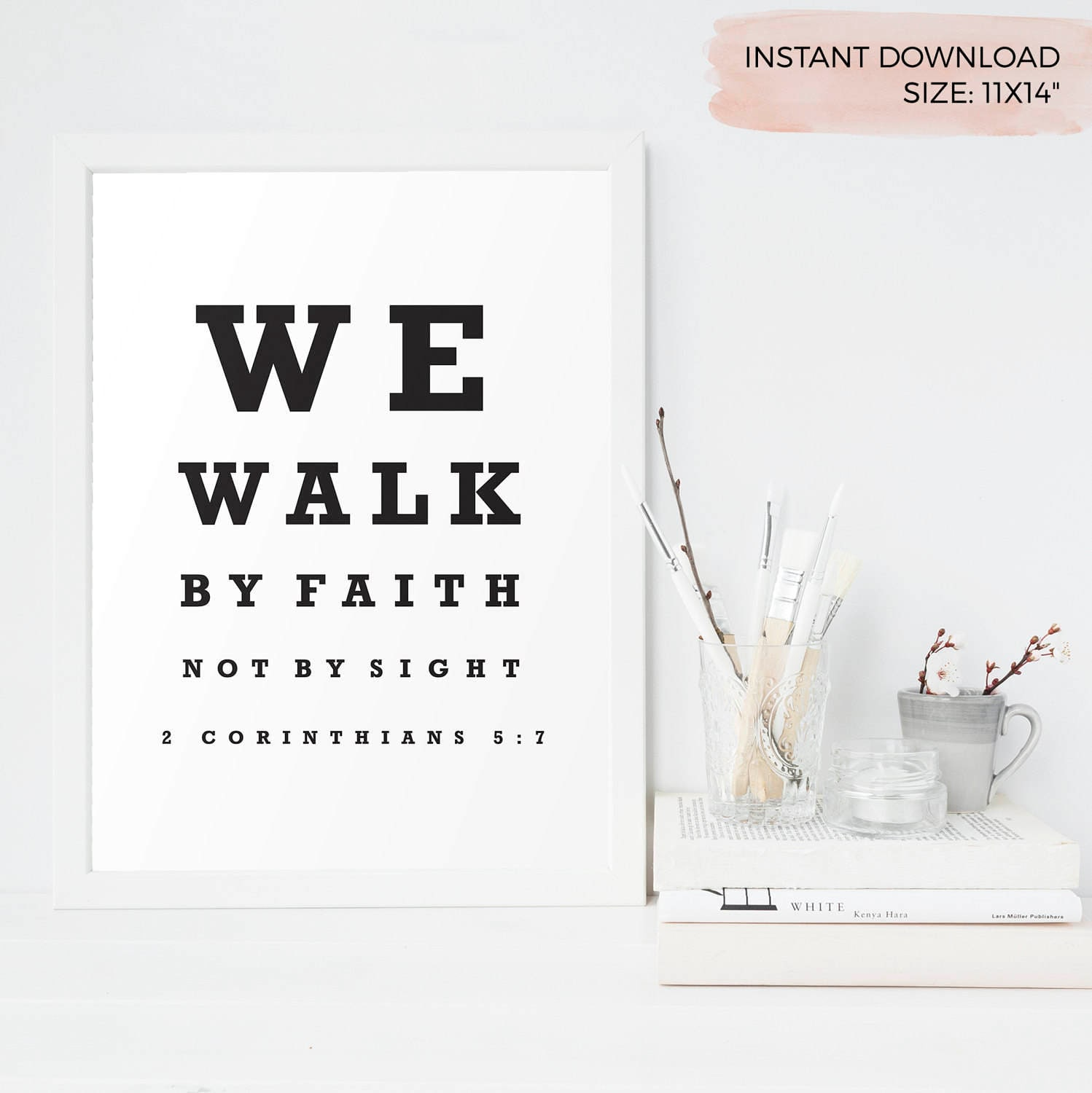 We walk by faith not by sight optometry vintage eye chart 2 zoom nvjuhfo Gallery